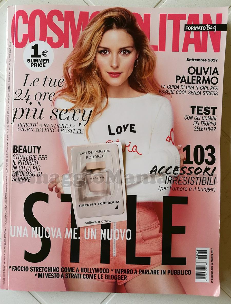 rivista Cosmopolitan n.9 con campioncino Narciso Rodriguez