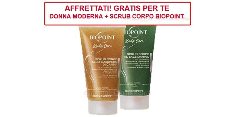 scrub corpo Biopoint con Donna Moderna