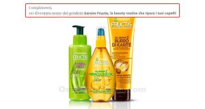 selezione tester beauty routine Garnier Fructis