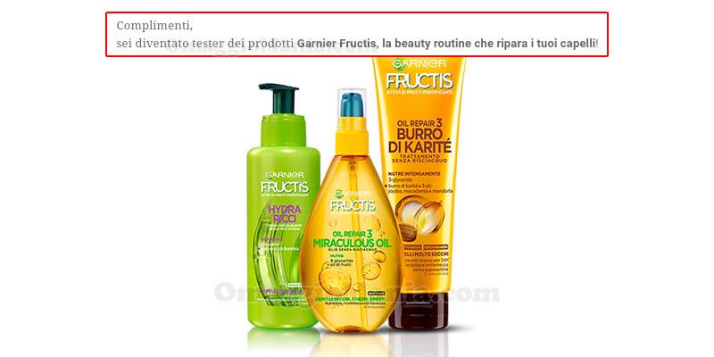 selezione tester beauty routine Garnier Fructis
