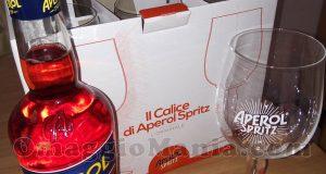 set bicchieri e bottiglia Aperol si Loretta