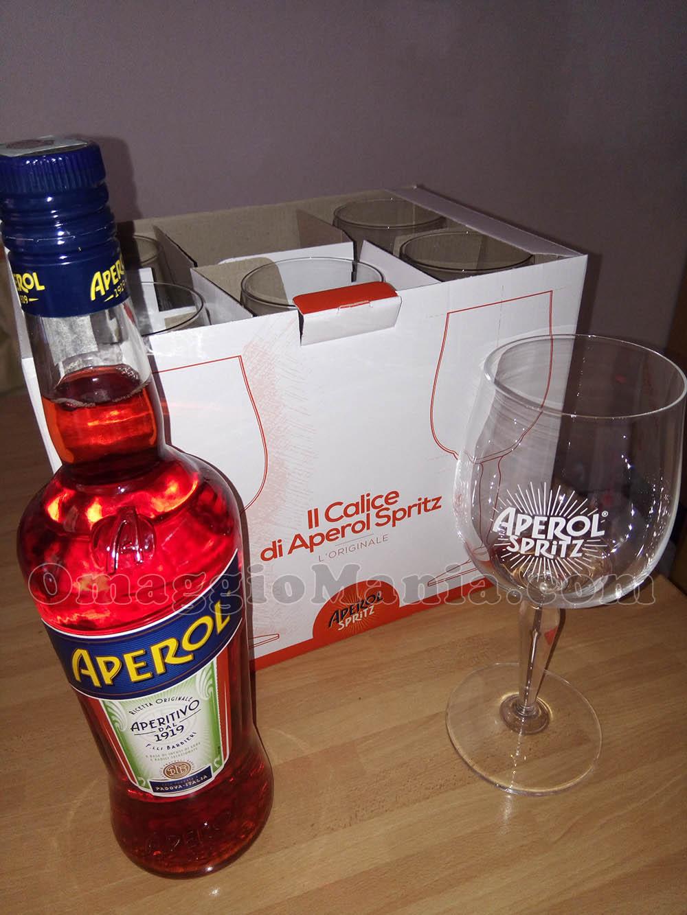 Bicchieri e bottiglia aperol con happy together for Bicchieri aperol spritz