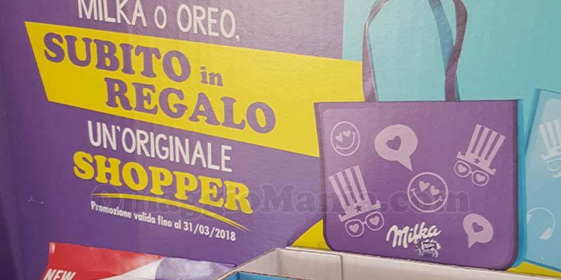 shopper Milka e Oreo omaggio