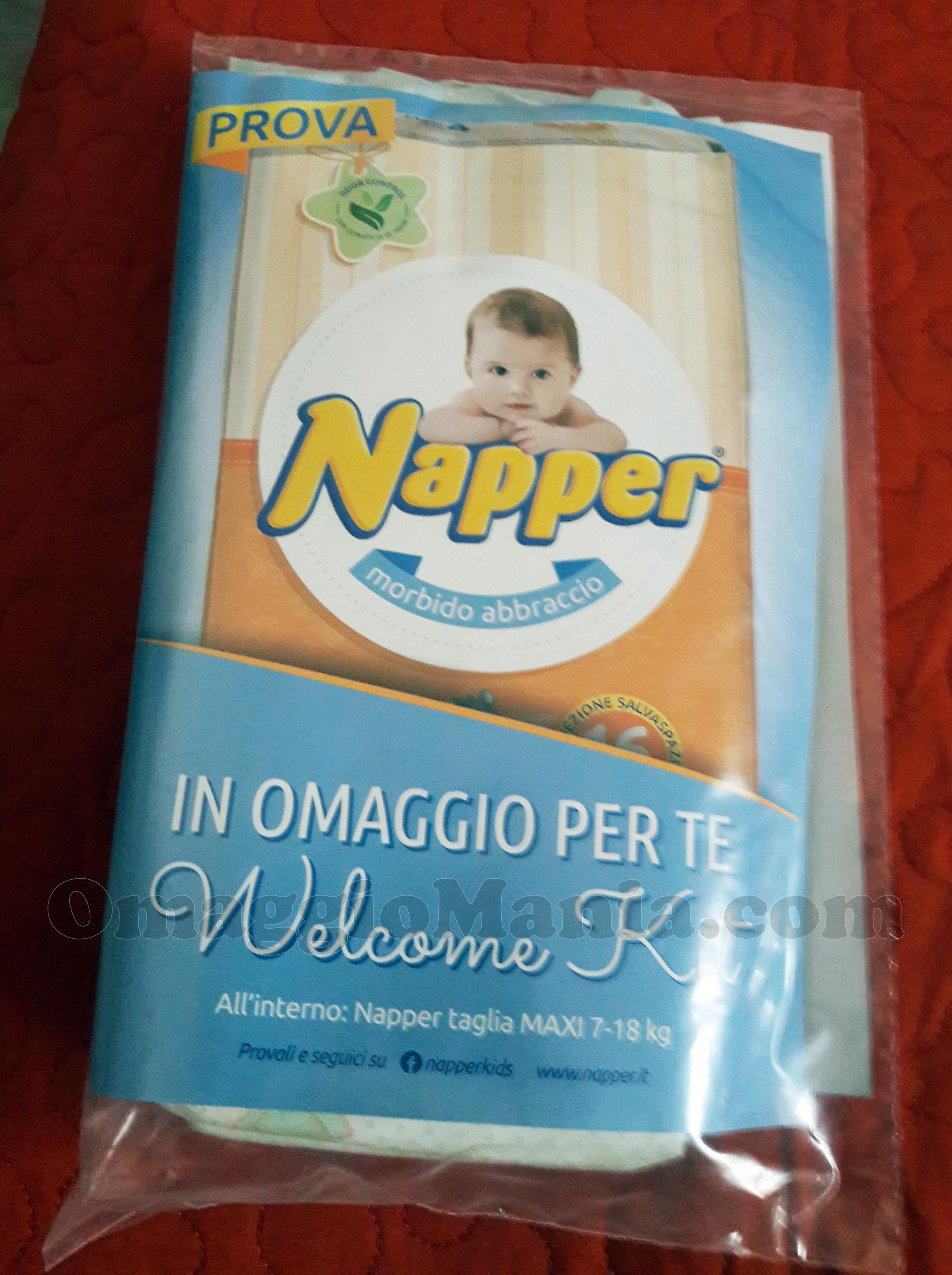 welcome kit Napper omaggio di Mimma