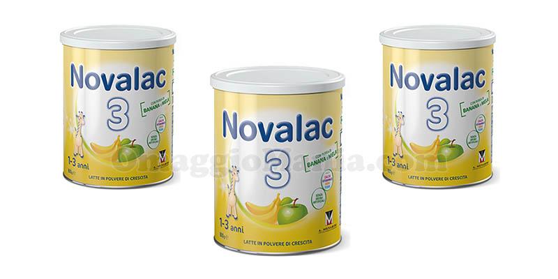 Latte Novalac 3 con purea di banana e mela