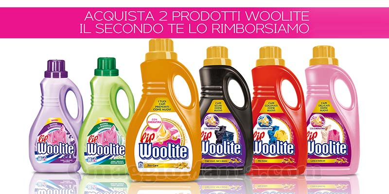 Lip Woolite rimborso secondo prodotto