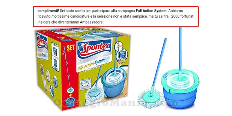 Spontex Full Action System selezione tester