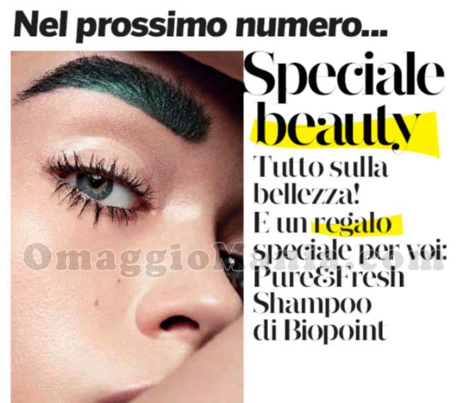 anticipazione shampoo Biopoint Pure&Fresh con Gioia
