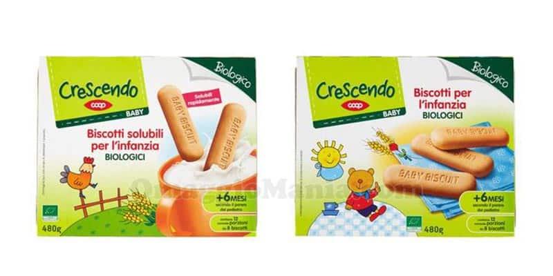 biscotti per l'infanzia Crescendo Coop
