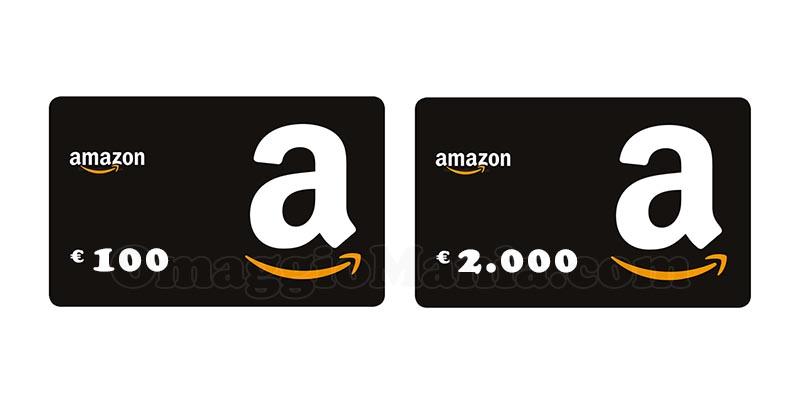 buoni Amazon da 100 o 2000 euro