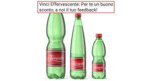 buono sconto Acqua Ferrarelle con Vinci Effervescente