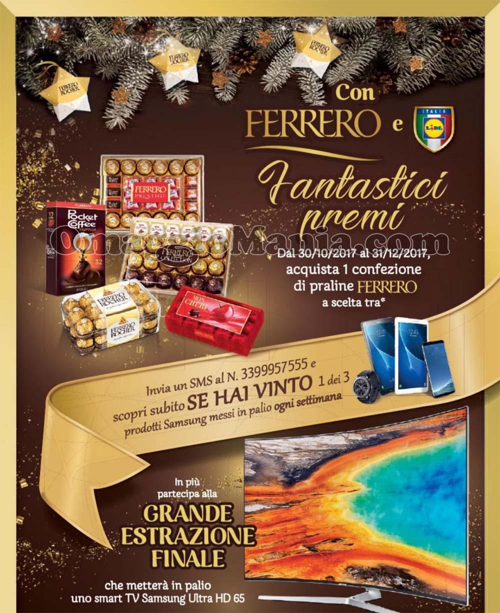 concorso Praline Ferrero vinci Samsung