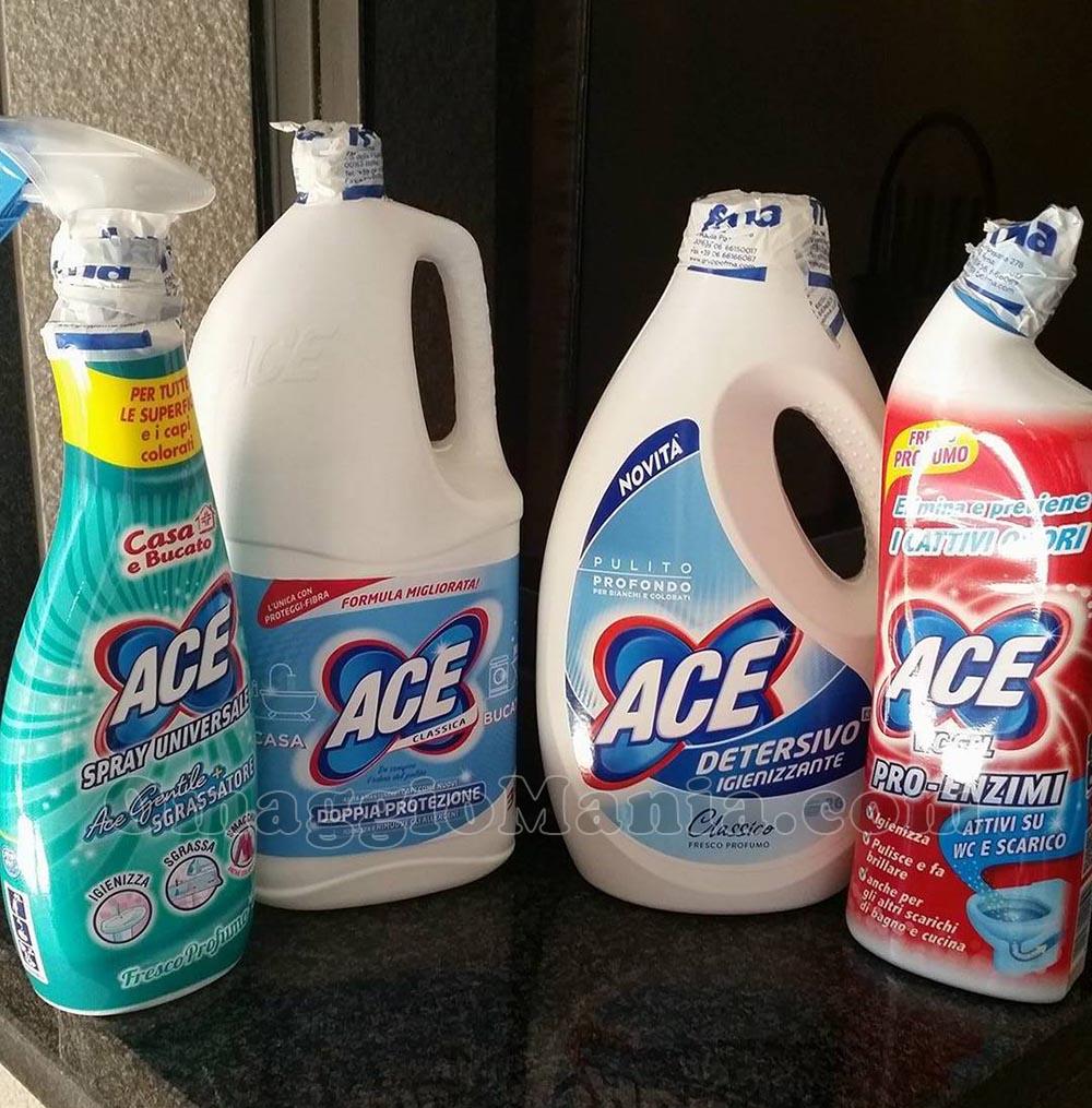 kit di prodotti ACE per 2 ore di pulizia
