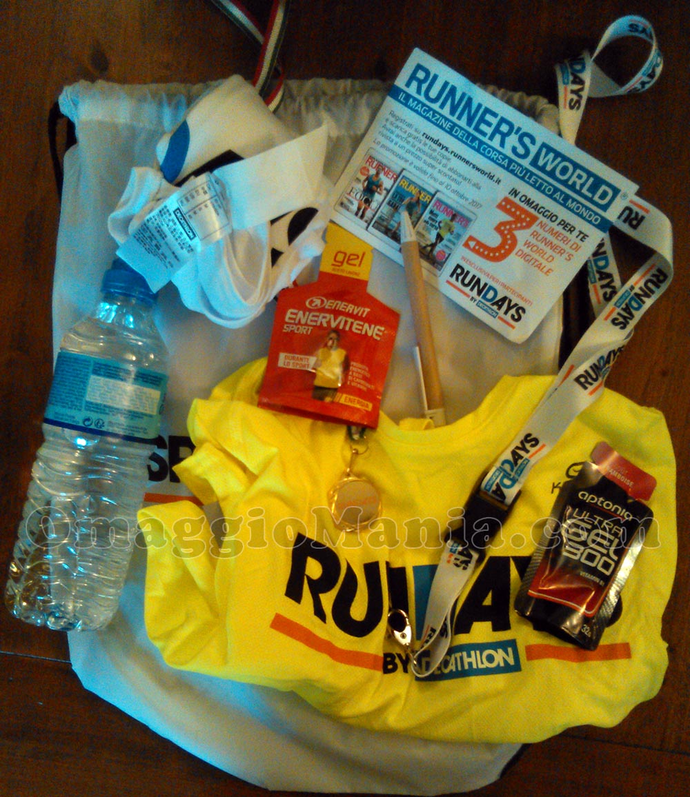 kit omaggio Rundays by Decathlon di Emma