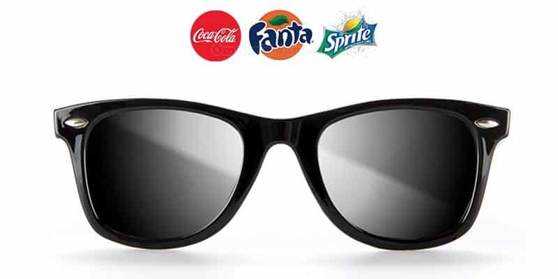occhiali da sole omaggio con Coca Cola Fanta Sprite