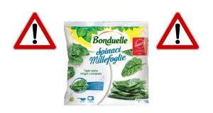 ritiro spinaci surgelati Bonduelle