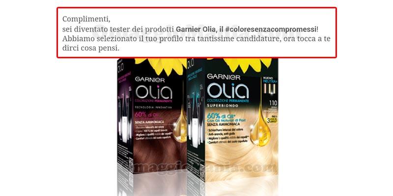 selezione tester Garnier Olia 2