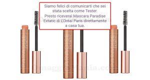 selezione tester mascara Paradise Extatic L'Oréal