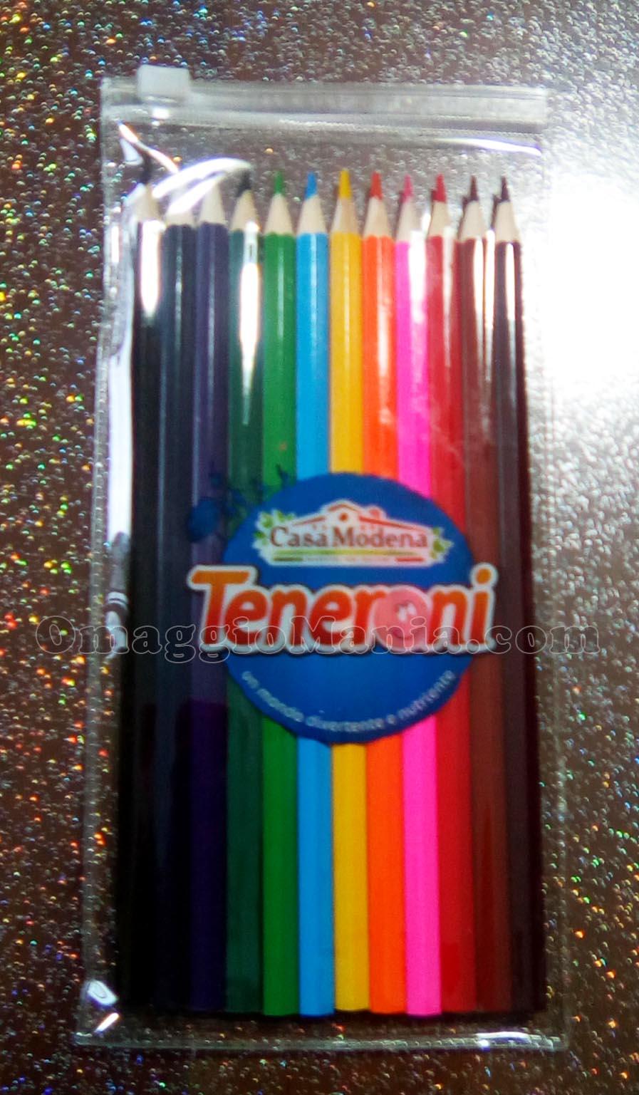 set matite omaggio con Teneroni Casa Modena di Mery