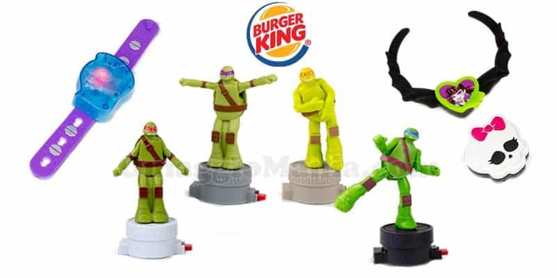 sorprese Burger King Tartarughe Ninja e Monster High