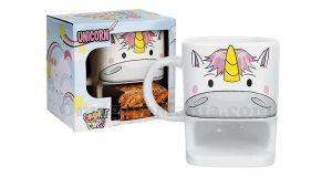 tazza unicorno con portabiscotti