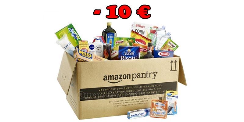 Amazon Pantry sconto 10 euro
