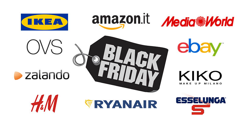 Black Friday 2017 elenco brand