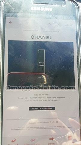 Bleu de Chanel richiesta campione omaggio di Nadia