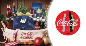 Vinci un cesto di Natale con Coca-Cola e Conad