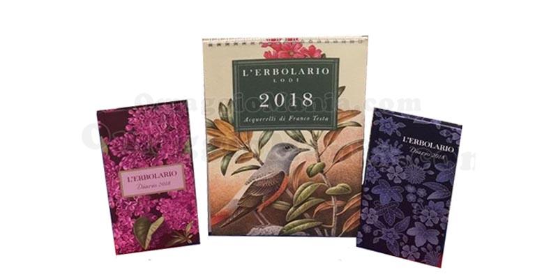 calendario diario L'Erbolario 2018