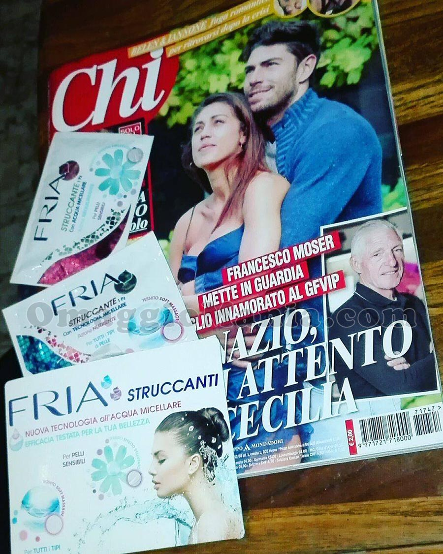 campioni omaggio FRIA con rivista Chi di Paola