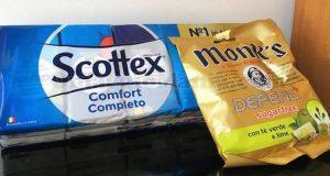 caramelle Monk's omaggio con Scottex di Cristiano