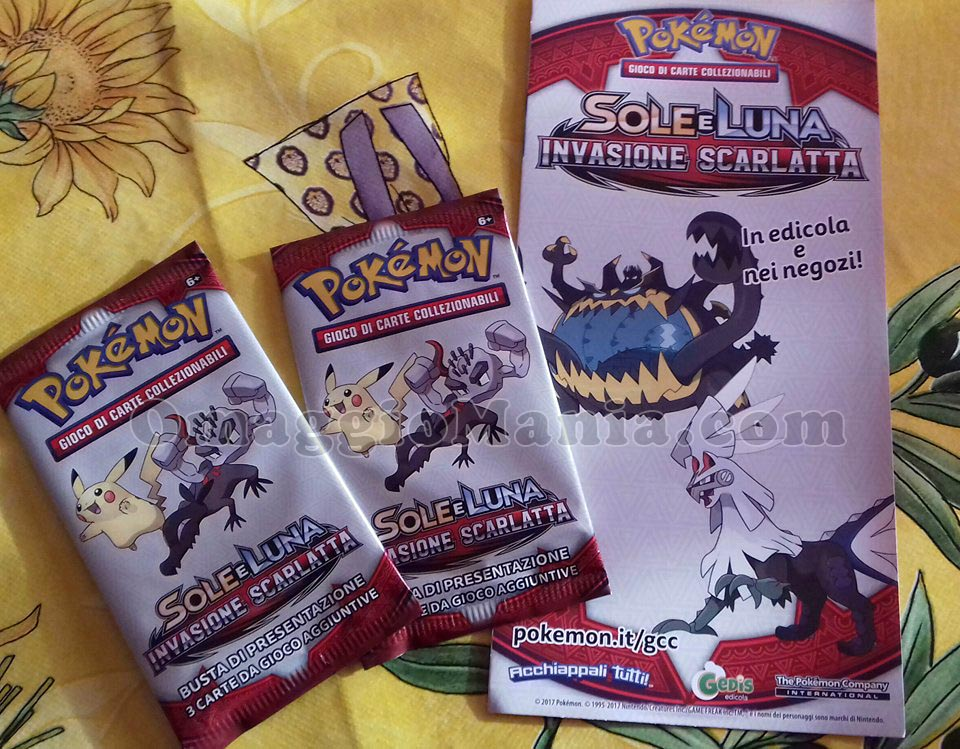 carte da gioco Pokemon Sole e Luna Invasione Scarlatta