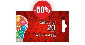 gift card Mondadori sconto 50%