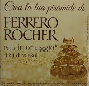 kit vassoi Ferrero Rocher omaggio di Rosamerendina