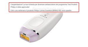 selezione tester Philips Lumea Essential di Valentina