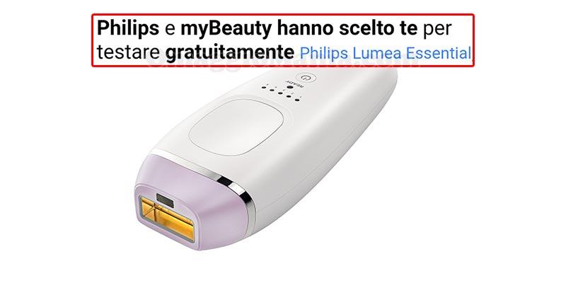 selezione tester Philips Lumea Essential