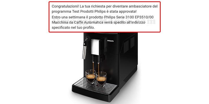 selezione tester macchina caffè Philips Serie 3100