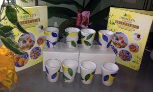 set bicchieri e ricettario Limoncetta di Sorrento di Tatiana