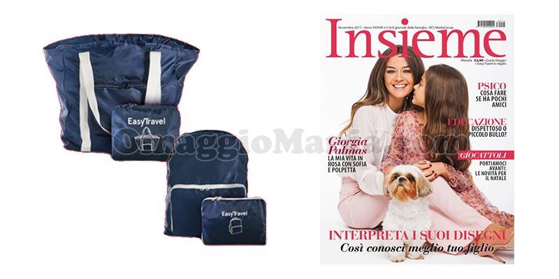 shopping bag zainetto Insieme novembre 2017