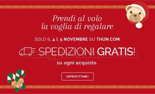 spedizioni gratuite Shop Online Thun novembre 2017