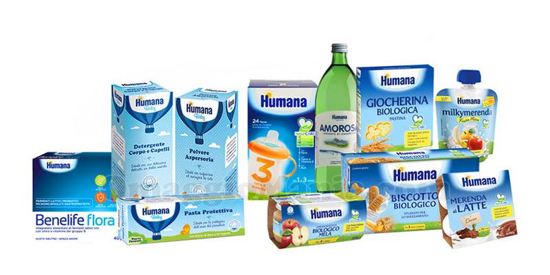Humana Gift Kit prodotti infanzia