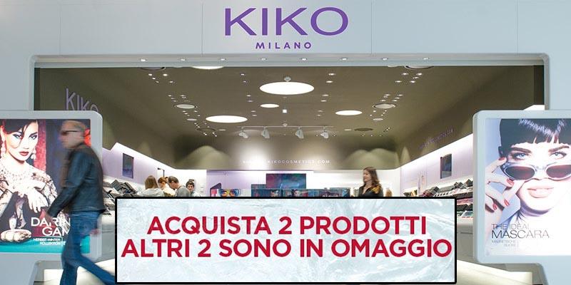 KIKO acquista 2 prodotti altri 2 sono in omaggio