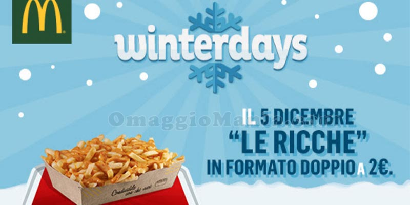 McDonald's WinterDays 5 dicembre 2017
