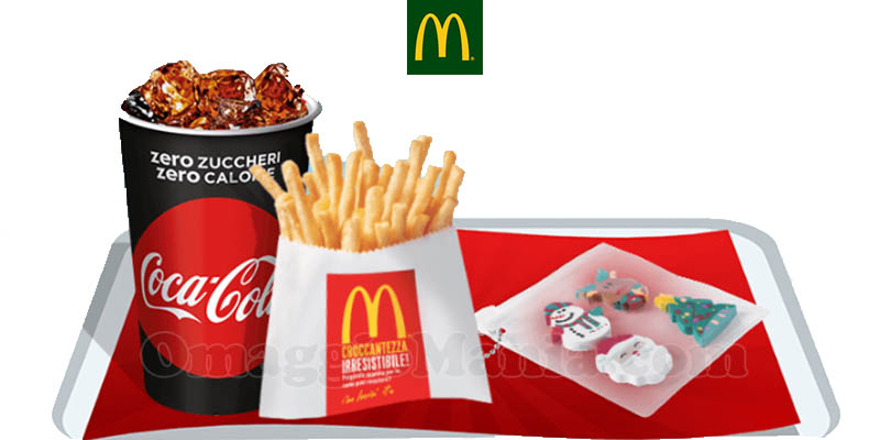 McDonald's bibita piccola patatina piccola kit gomme omaggio