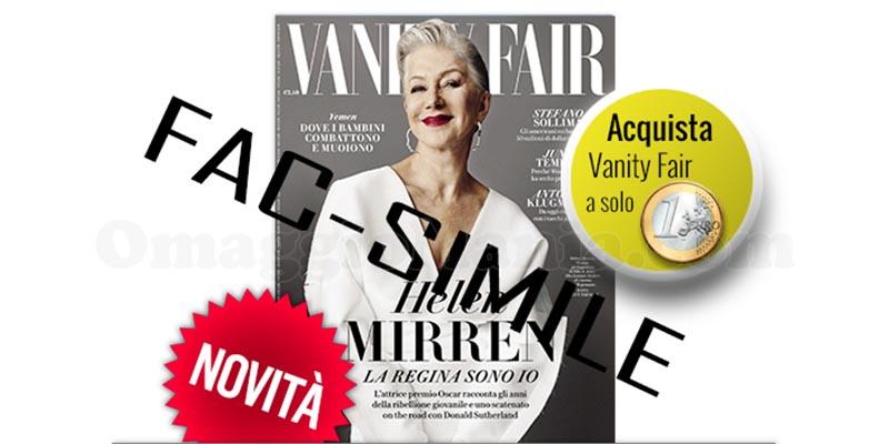 Vanity Fair a 1 euro con i coupon digitali