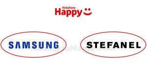 Vodafone Happy buoni sconto Samsung o Stefanel