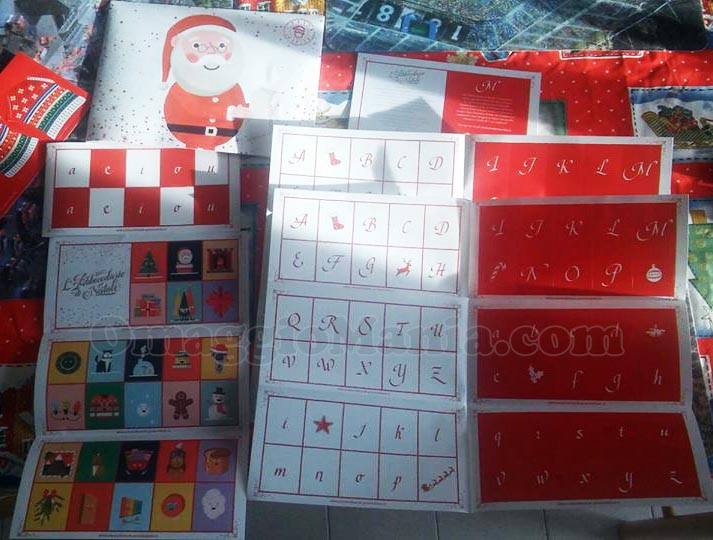 adesivi natalizi La Posta di Babbo Natale di Poste Italiane di Federica