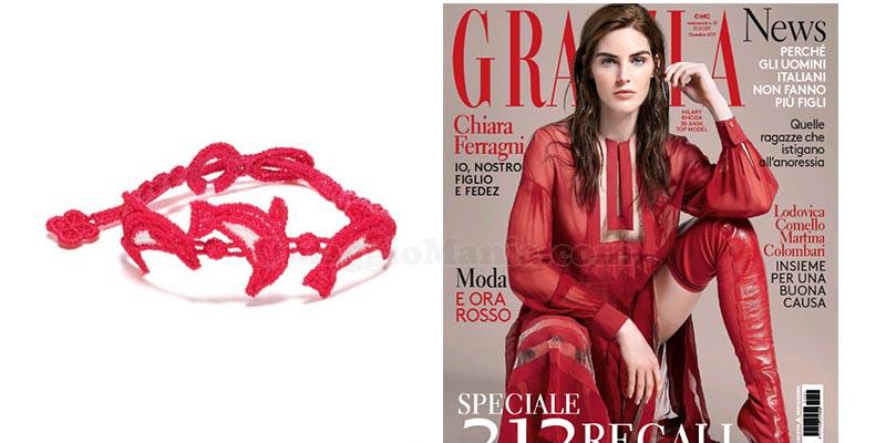 braccialetti Cruciani con Grazia dicembre 2017