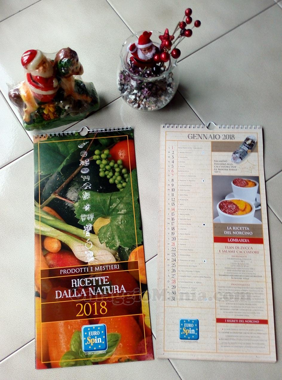 calendario 2018 Eurospin omaggio di Mary